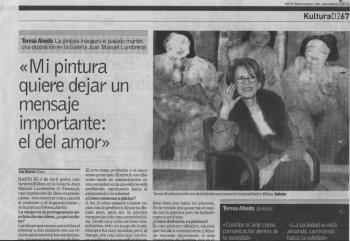 Entrevista a Teresa Ahedo en Deia