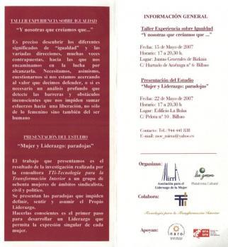 Programa del Taller de Mujeres