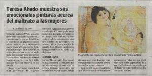 Artículo en El Correo sobre Teresa Ahedo