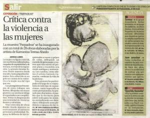 Por su obra Maternidad de la Exposición Parpadear