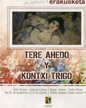 Exposición Teresa Ahedo y Kontxi Trigo en Karrantza
