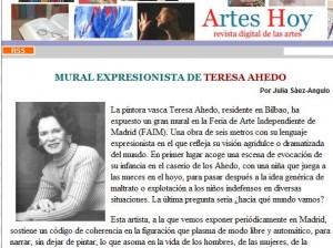 Julia Saez-Angulo habla sobre el mural expresionista