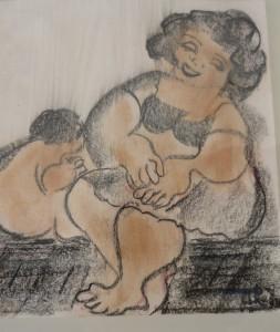 Maternidad en cera